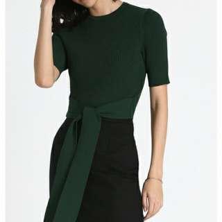 Bnwt Love Bonito Aleana Sash Knit Top In Green (Size Xs)