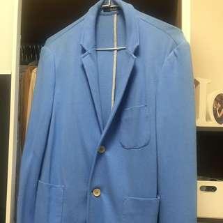 ZARA淺藍色休閒西裝外套S號