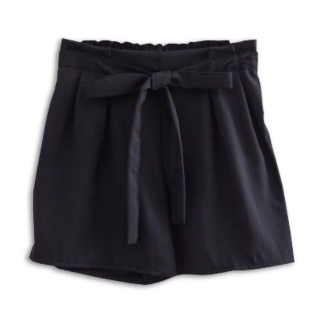 【G1】直條紋綁帶鬆緊短褲