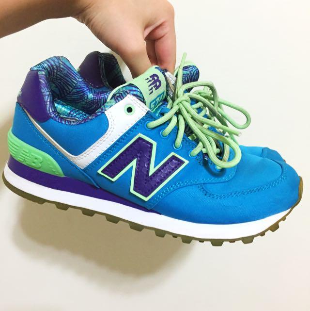 正品 NB 喜歡可議 New Balance 藍綠 紐巴倫 574系列