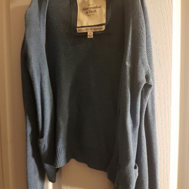 Abercrombie And Fitch Blue Cardigan
