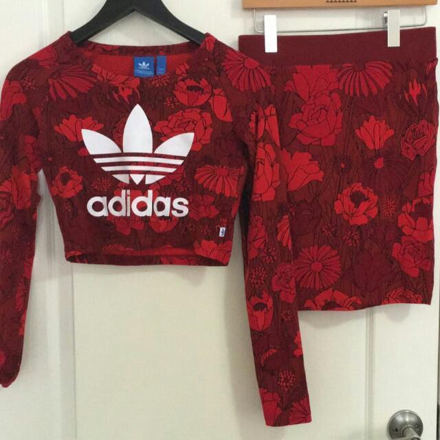 Adidas Top And Skirt Set Size 6