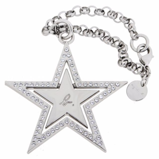 agnes b. 水鑽雙層大星星吊飾 / 銀色 包包掛飾 手機吊飾  配件 裝飾