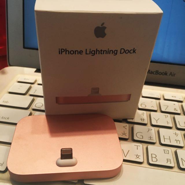 Apple原廠 Lighting Dock 充電底座 玫瑰金