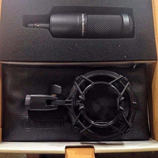 Audio Technica Condeser Mic and M Audio Interface