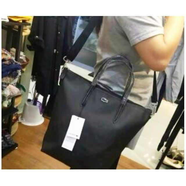 e065df7189f Authentic Lacoste 2016 12.12 Concept Crossbody Tote Bag Black on Carousell