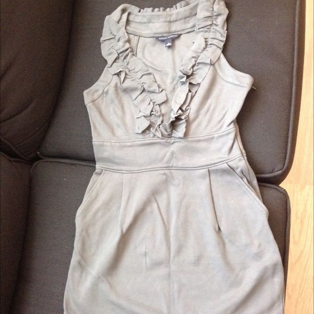 Banana Republic Grey Cotton Dress