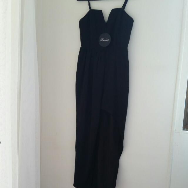 Black Dress With Split
