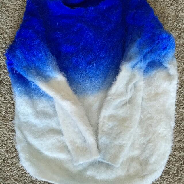 Blue Ombre Sweater
