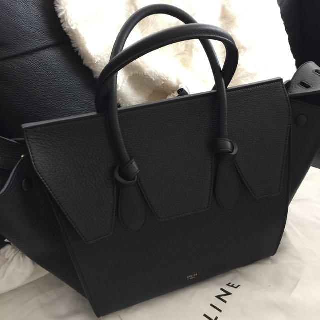 CELINE Tie knot bag - Black Leather