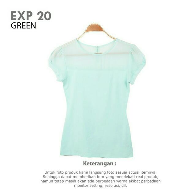 Express Blouse Green Tosca