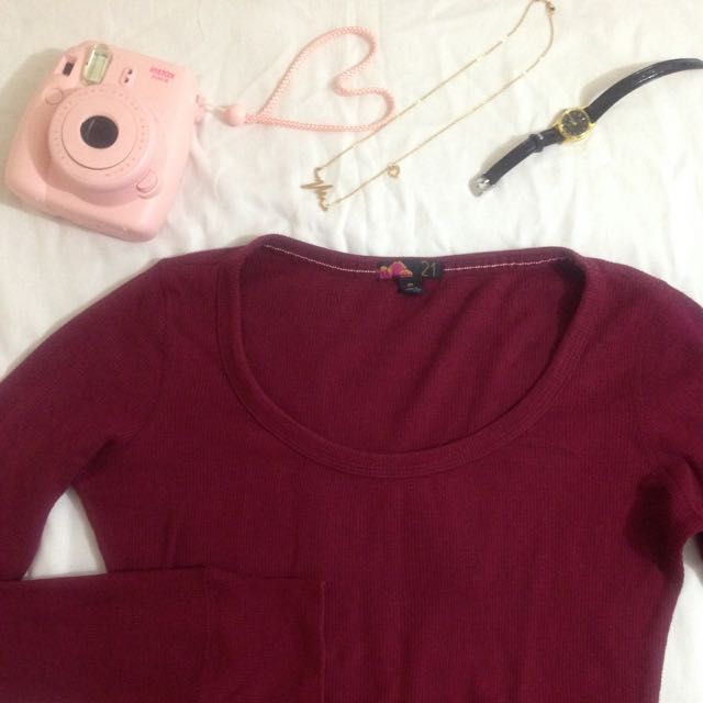 F21 Maroon sweater