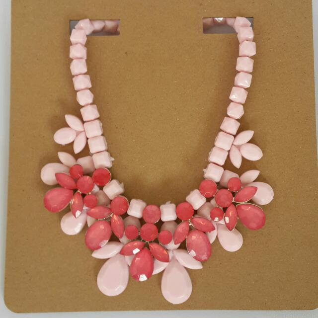 Fashion Necklace Pink