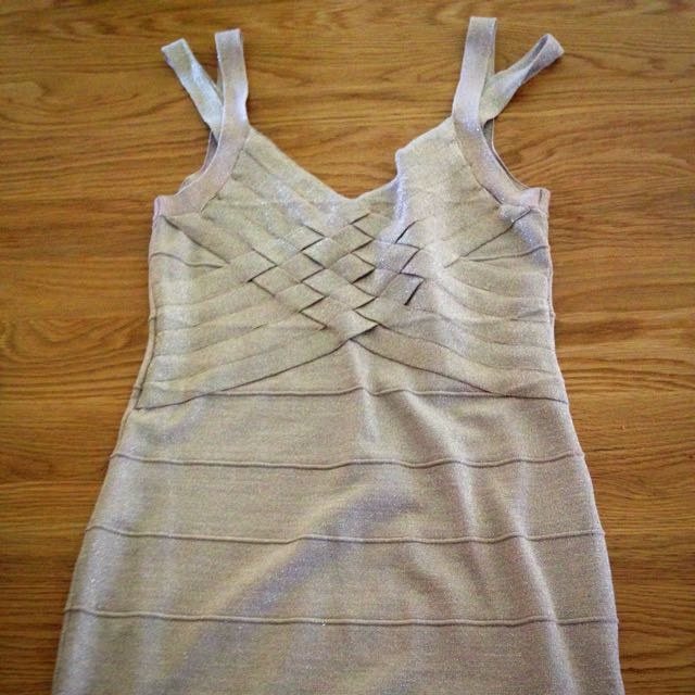 Forever 21 Gold Body Con Dress L