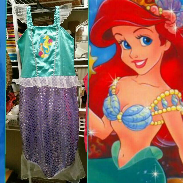 Girls Size 6-8 Ariel's fancy dress costume