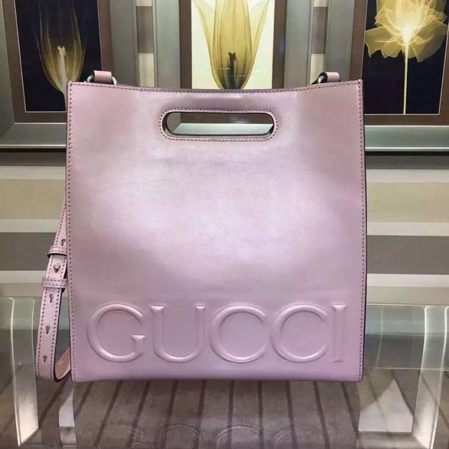 GUCCI Dusty Pink Embellished Tote