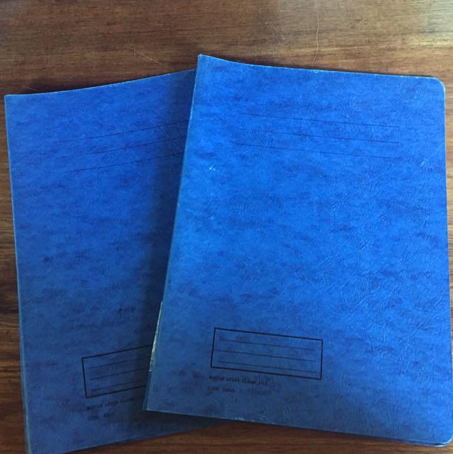 Lever clamp folders