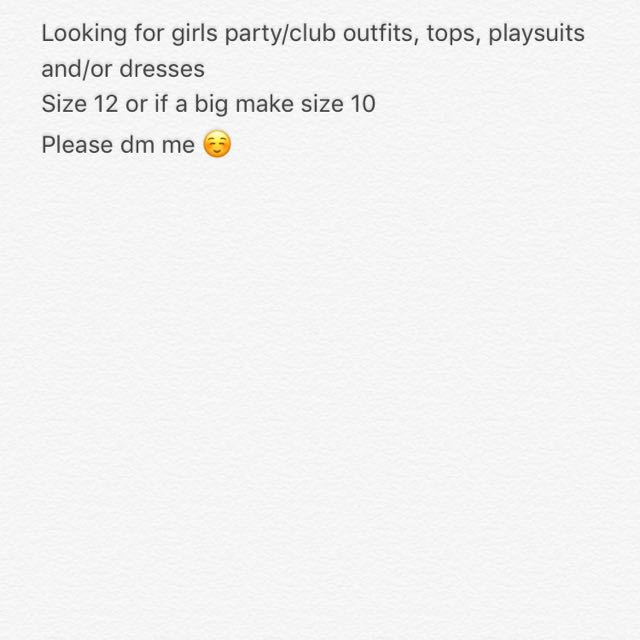Looking for girls party/club clothes