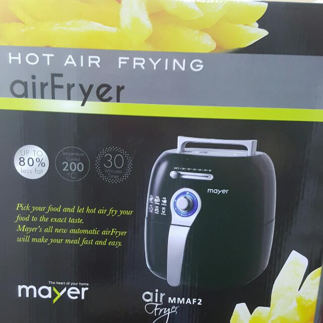 BRAND NEW Mayer Air Fryer Model MMAF2 (New, still in box) > Complimentary  Delivery To Residential Address Only Within Mainland Singapore