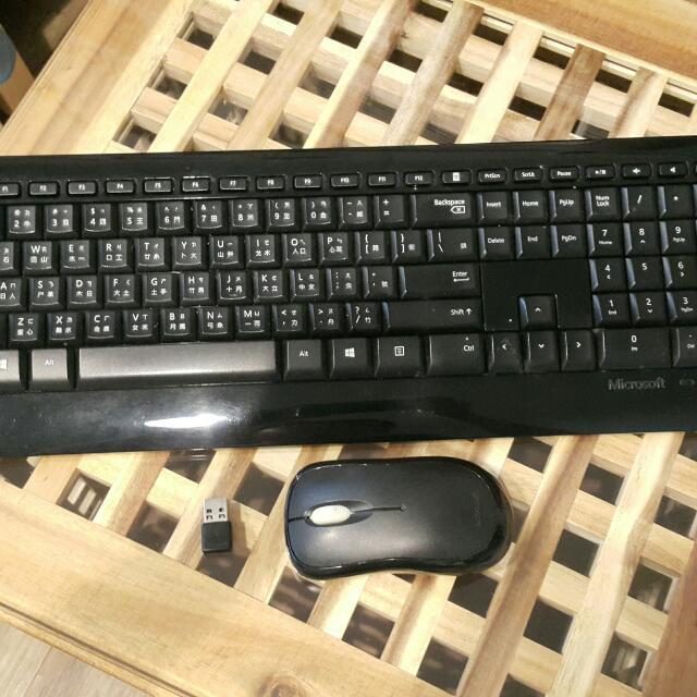 Microsoft 800 無線鍵盤滑鼠組