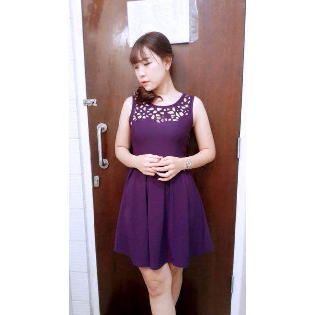 Purple Dress All Size