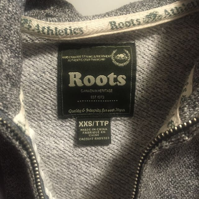 Roots Salt And Pepper Zip-up Hoodie