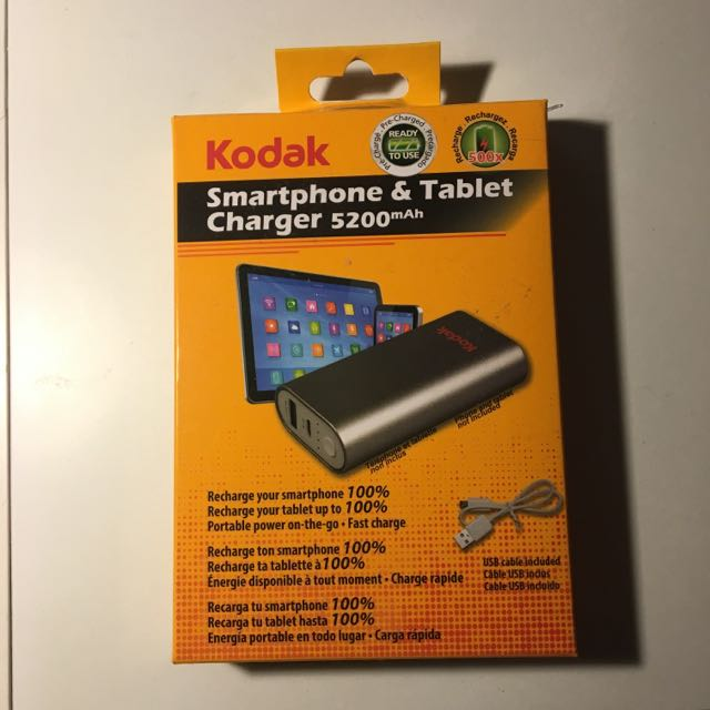 Silver & Red Kodak Portable Charger
