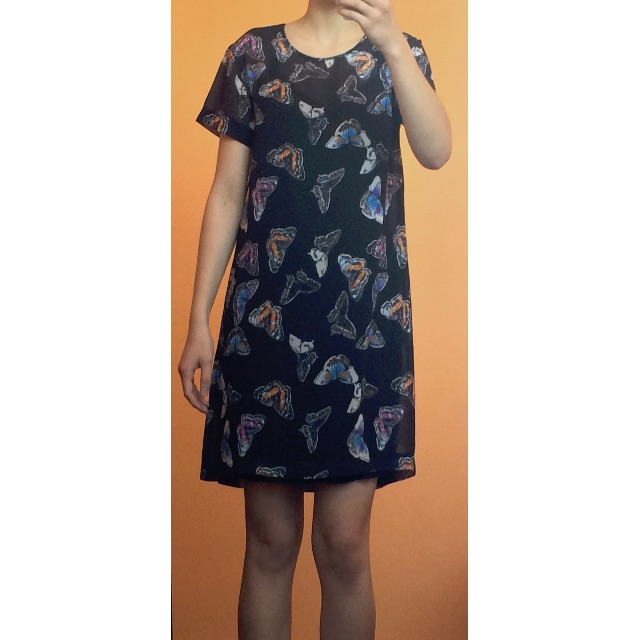 Storm butterfly print dress
