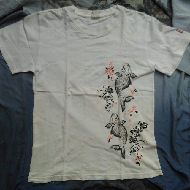 Tshirt koi Japanes Sukajan
