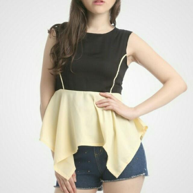 Wigi top peachy - fashion blouse import
