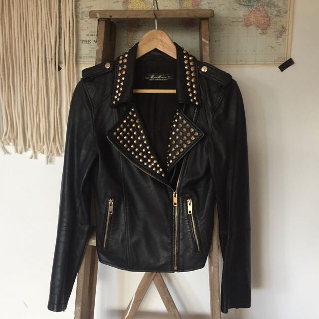 Zara Studded Leather Jacket