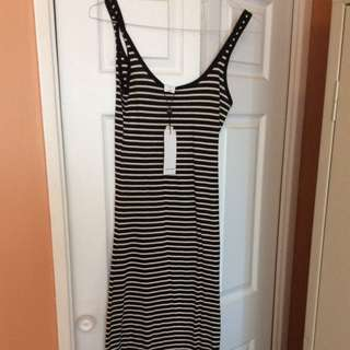 Vero Moda Striped Maxi Dress With Tags