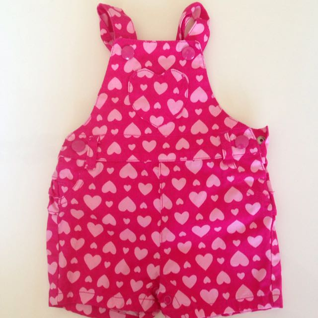 000 Heart Pattern Overalls
