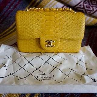 Chanel Limited Edition Python Mini Flap