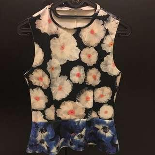 Zara Summer Flowery Top