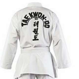 Teakwando Uniform Size Standard 7-12 Years Old.