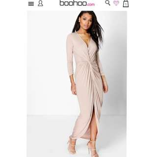 Boohoo Wrap Dress