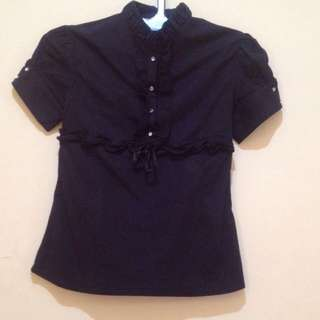 Black Formal T-Shirt