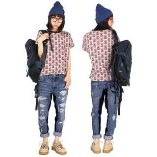 正版 日牌RNA 內側 拼接 絨布 顯瘦 特殊設計 牛仔褲 S號 全新 原價六千多