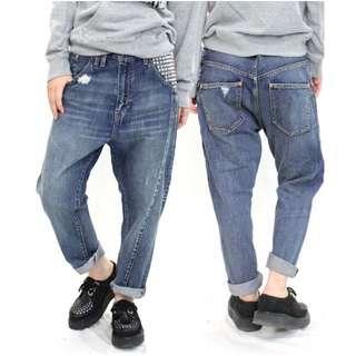 RNA正版 寬鬆 拉鍊 鉚釘 個性 質感 牛仔褲 原價六千多
