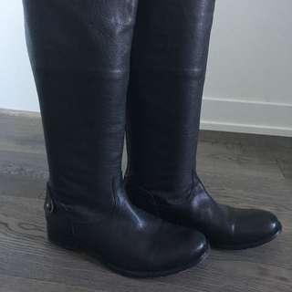 Frye Classic Black Equestrian Boots