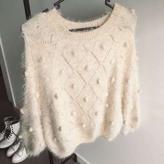 ✨ Light Beige Fluffy Sweater