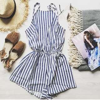 SABO Skirt Stripe Jumpsuit