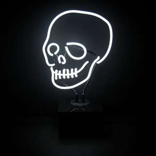PO SKULL DESTOP NEON SIGN LIGHT