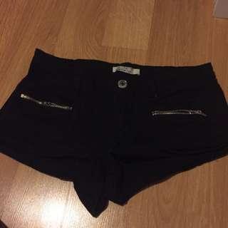 Black Shorts Size 7
