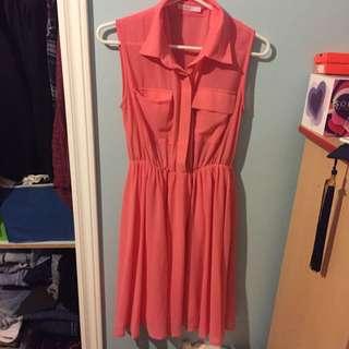 Pink Katie Dress Size Small