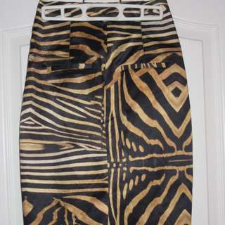 Guess By Marciano Animal Printed Skirt