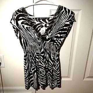Small Seductions Zebra Print Top