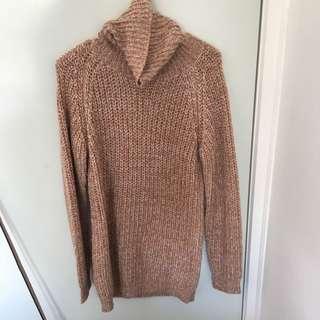 Bardot Long Line Knitted Jumper