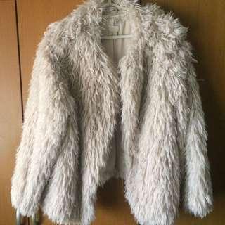 H&M Faux Fur Coat Jacket